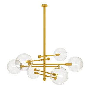 glass chandelier ball 3D