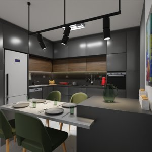 kitchen modeled 3D model