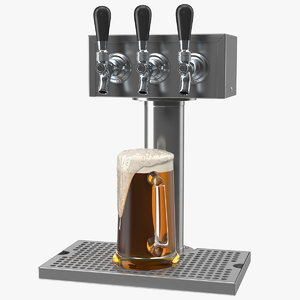 triple faucet beer tower model