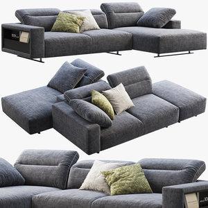 boconcept hampton chaise lounge 3D model