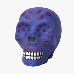 skull decoration halloween 3D model