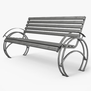 3D bench pbr