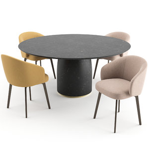 3D chairs table lema