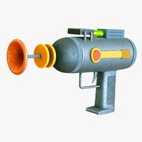 Stylized Laser Gun - Cartoon Pistol