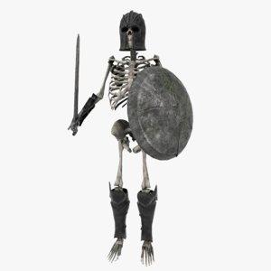 3D skeleton warrior model