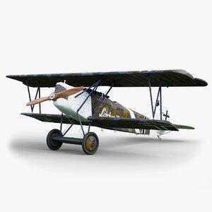 3D aircraft fokker gameready dvii