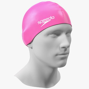 speedo pink swim cap 3D model