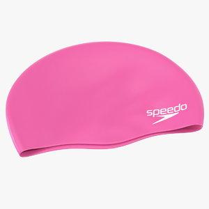 speedo waterproof swim cap 3D model