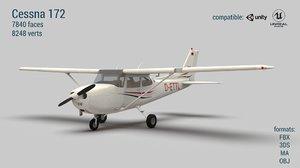 aircraft pbr engines 3D model