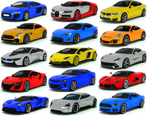 3D model cars vehicles
