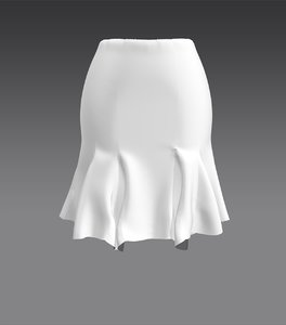 3D marvelous designer skirt