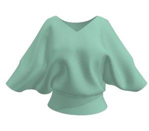 3D model batwing sleeve cloth