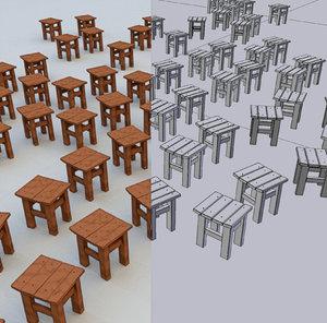 turkish tabure 3D model