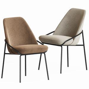 3D jackie dining chair bertosofas model