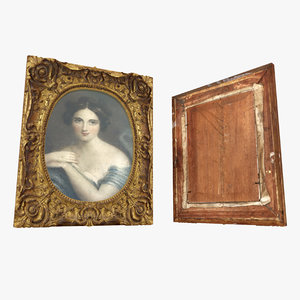 3D old frame painting