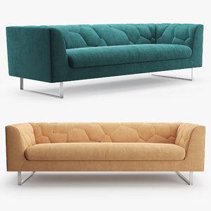 ted boerner cumulus sofa 3D model