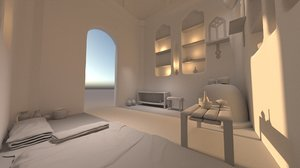 old interior house 3D model