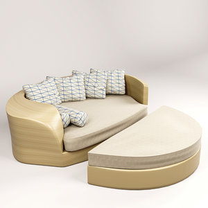 3D outdooring chair daybed model