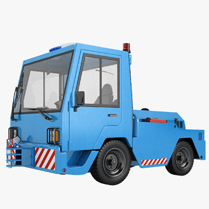 3D aircraft tow tractor