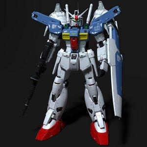 weathering style gundam rx-78 model