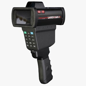 3D traffic enforcement speed gun model