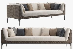 3D mu 4-seater sofa outdoor