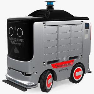 3D autonomous delivery service robot model