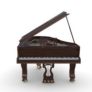 arnold piano 3D model