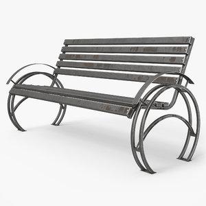 3D model bench pbr