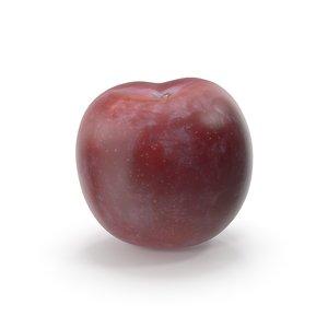 plum fruit food model