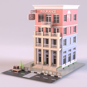 insurance company 01 3D model