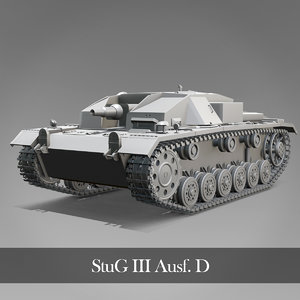 stug iii panzer tanks 3D model