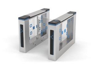 electronic glass barrier swing 3D model