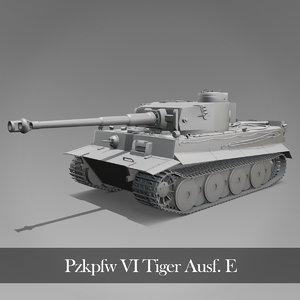 3D tiger tank