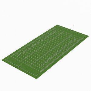 3D american football field