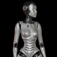 Robot Woman Rigged STANDARD EDITION