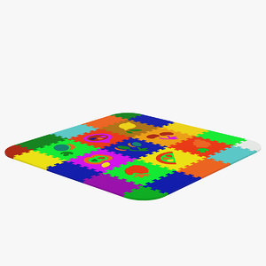 3D children s carpet puzzle
