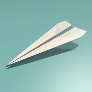 paper plane 3D