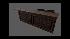 3D apothecary counter model