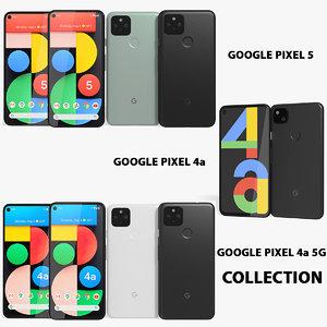 3D realistic google pixel 5