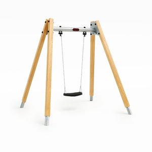 swing 2m hardwood 3D model