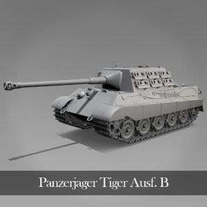 jagdtiger tiger tank 3D model