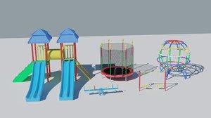 3D model playground slide