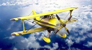 amphibious biplane modern seaplane 3D model