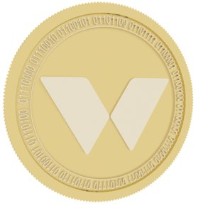 3D model twins coin gold