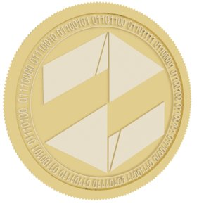 turret gold coin 3D