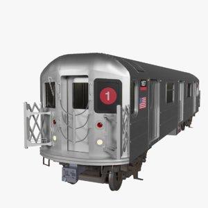 r62a subway train nyc model