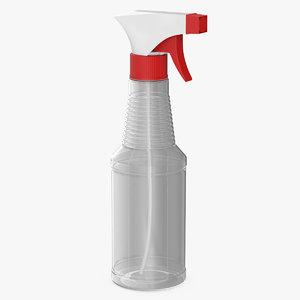 3D model spray bottle cleaning v