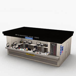 currency exchange store 3D model