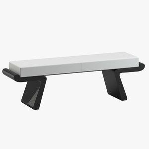 liaigre bench calme plat 3D